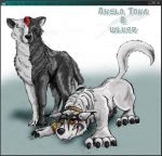 Akela Taka and Wlker by wlker-wolf