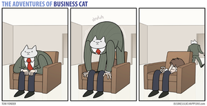 The Adventures of Business Cat - Armchair by tomfonder