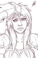 Ironscale Shyvana sketch by MauroIllustrator