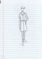 Dress design, uncolored by strawberry-chan13