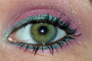 Pink Turquoise make up II by Toxic-Sway