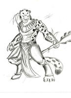 Jaguar Warrior sketch by xbox360gamer
