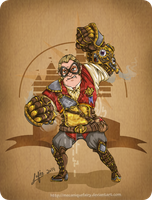 Disney steampunk: Mr Incredible by MecaniqueFairy
