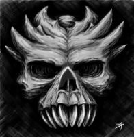 Spikey Skull by darkdirk16
