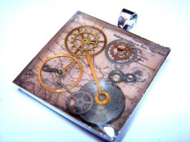 Steampunk Gear Pendant 2 by Goku-Kaji