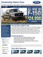 Ford Landing Page Web Design by xstortionist