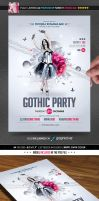 Gothic Party Flyer by Minkki2fly