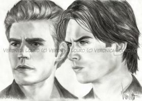 Stefan and Damon by verkoka