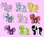 Adoptables #1 [OPEN] by HipstahPony