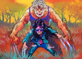 Logan and X-23 by eldeivi