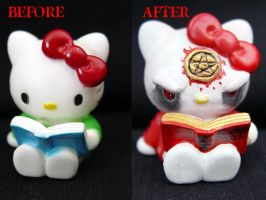 Satanic Hello Kitty Comparison by Undead-Art