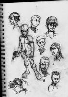 Ender's Game sketches by CrimeRoyale