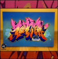Mini Canvas Graffiti by Nerkin