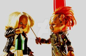 Chucky and Tiffany III by Arc-Elline