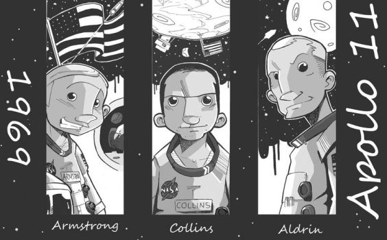 40 years Apollo 11 by ghonnen
