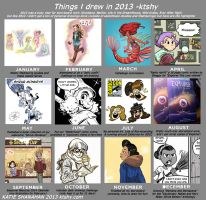 Things I drew in 2013 by ktshy