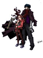 justine and mr.zombie colored. by anchan
