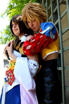 Tidus and Yuna by twinfools