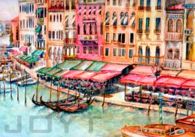View along the grand canal by JoyT