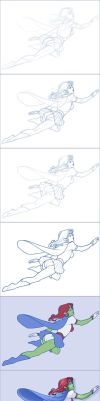 Miss Martian - step by step by tabbykat