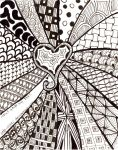 Zentangle heart by Itti