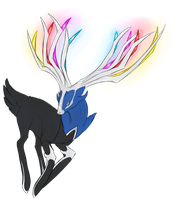 Xerneas by GlitchedVirus