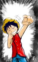 Luffy Snicker by Spilled-Sunlight