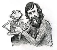Jim Henson and Kermit by Caricature80