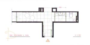 DH - Hall +Restroom Plan by nikneuk