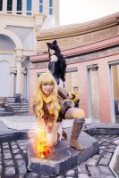 Yang Xiao Long and Blake Belladonna RWBY Cosplay by firecloak