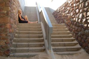 Beach Side Stairs 3 by Storms-Stock