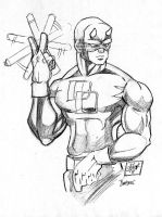 Another Daredevil Sketch by JazzRy