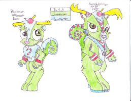 htf digimon dna nutty lumpy by anolelightdragon