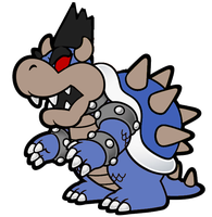 Paper Dark Bowser by PokeviantART