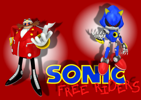 Sonic Free Riders - Eggman and Metal Sonic - WlPr by BingotheCat