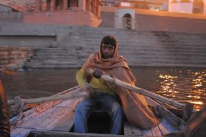 Rowing the Ganges (Varanasi, India) by drewhoshkiw