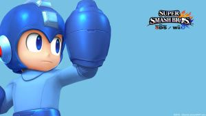 MegaMan |Wallpaper| Super Smash Bros. Wii U/3DS by Gibarrar