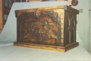 Pine Medieval Chest front by JARM13