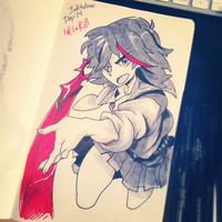 Inktober Day 14: Kill La Kill by Mikuloctopus