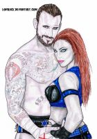 Jordyn and CM Punk by Lohrack