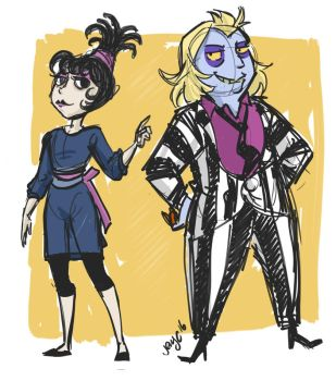 2016 09 Beetlejuice redraw by MissKeith