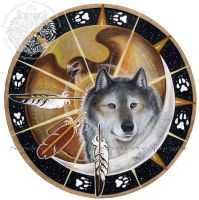 Wolf Hawk Spirit Shield by ssantara