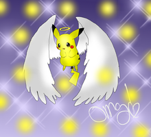 Angel Pikachu by Thongchan