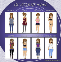Oc Clothes Meme: Cam by SheLooksToTheSky