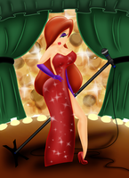 Jessica Rabbit the Diva by StrayMinK