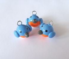 Cute Little Bluebird Charms by MariposaMiniatures
