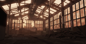 Destroyed warehouse concept by Activoid