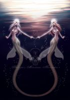 Twin Mermaids by Viking-Princess
