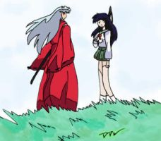 Kagome and InuYasha for FFA by dark-dragon-wings