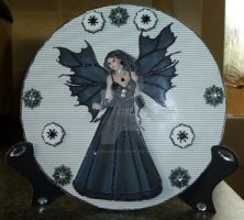 Black Fairy Plate Card and Stand by blackrose1959